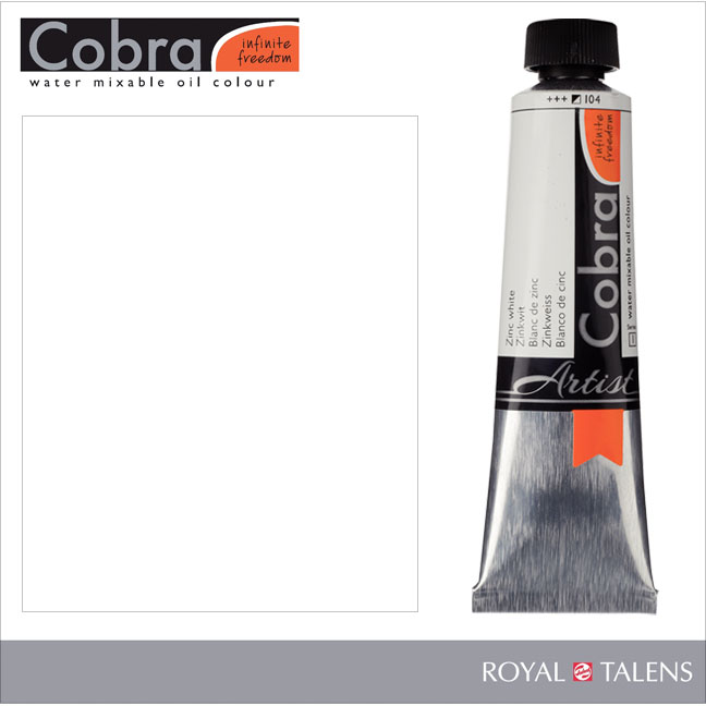 Cobra Water Mixable Oil Color 40ml Zinc White