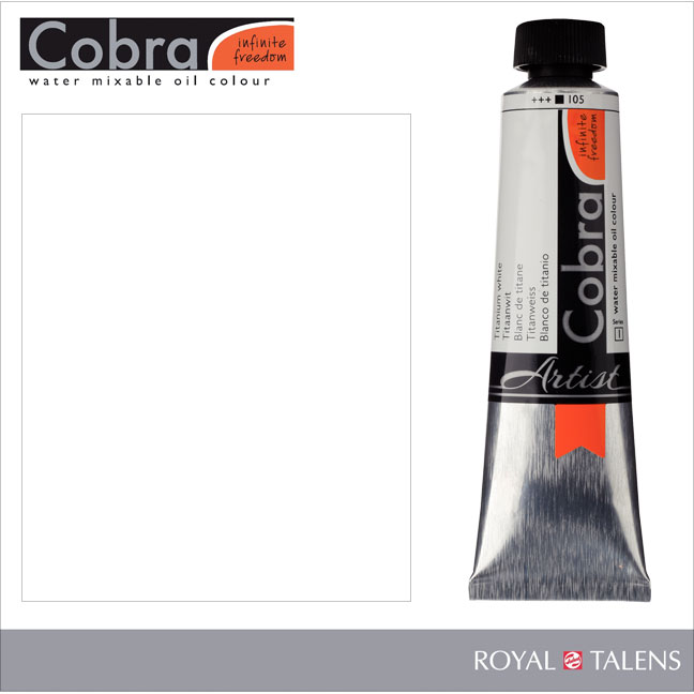 Cobra Water Mixable Oil Color 40ml Titanium White