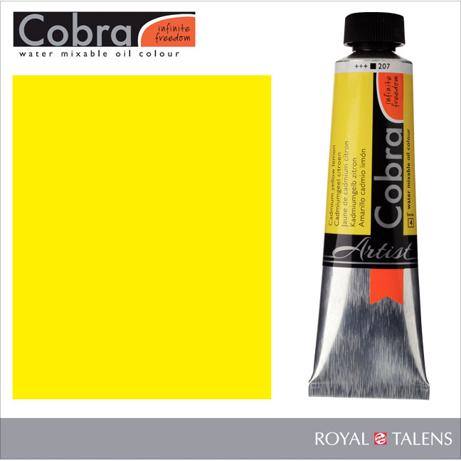 Cobra Water Mixable Oil Color 40ml Cadmium Yellow Lemon