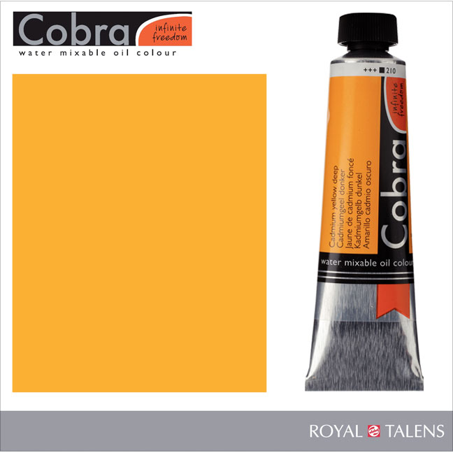 Cobra Water Mixable Oil Color 40ml Cadmium Yellow Deep