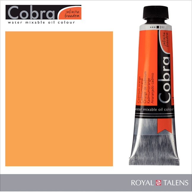 Cobra Water Mixable Oil Color 40ml Cadmium Orange