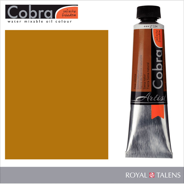 Cobra Water Mixable Oil Color 40ml Raw Sienna