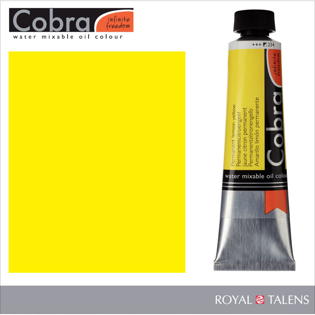 Cobra Water Mixable Oil Color 40ml Permanent Lemon Yellow
