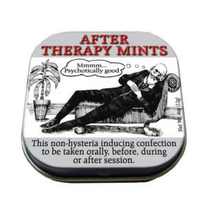 Freud After Therapy (Psychotically Good) Mints with Reusable Tin