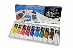 Artisan Water Mixbale Oil Color 10 x 37ml Tube Set