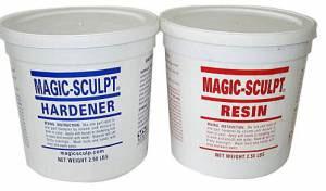 Magic-Sculpt Resin and Hardener 5 Lbs. Kit (Gray)