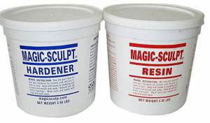 Magic-Sculpt Resin and Hardener 1 Lb. Kit (Gray)