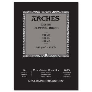 Arches Drawing 10x14 16sh Cream