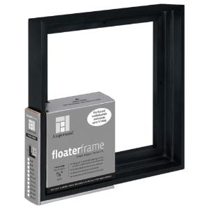 """Floater Frame Thin 7/8"""" 6x6 Black"""