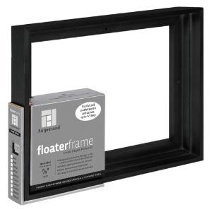 """Floater Frame Thin 7/8"""" 8x10 Black"""