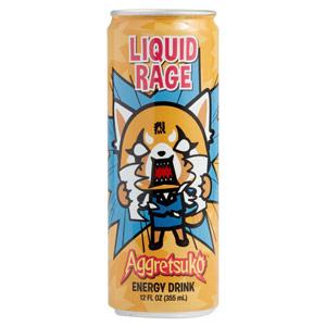 Aggretsuko Liquid Rage Energy Drink 12oz