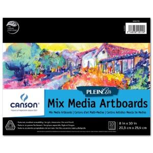 Canson Plein Air Mix Media Artboard Pad - 8x10