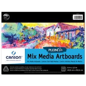 Canson Plein Air Mix Media Artboard Pad - 9x12