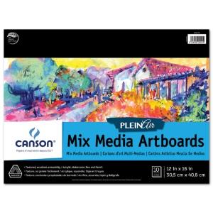 Canson Plein Air Mix Media Artboard Pad - 12x16
