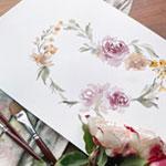 In the Studio: Watercolor Wreath with Cara Rosalie Olsen