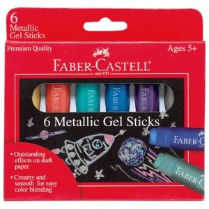 Faber-Castell Metallic Gel Sticks - Set of 6