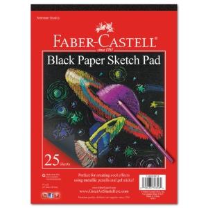 Faber-Castell Black Paper Pad - 9x12