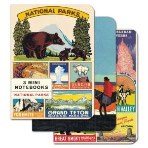 MINI NOTEBOOKS 3pk NATIONAL PARK