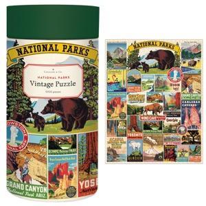 Cavallini Vintage Puzzle 1000pc National Parks
