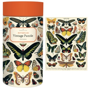 Cavallini Vintage Puzzle 1000pc Butterflies