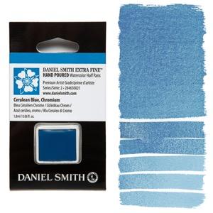 Daniel Smith Watercolor Half Pan - Cerulean Blue Chromium