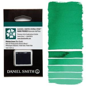 Daniel Smith Watercolor Half Pan - Phthalo Green (Blue Shade)