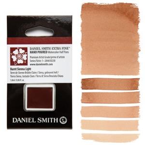 Daniel Smith Watercolor Half Pan - Burnt Sienna Light