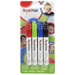 People Paint Body Markers Set #2 Red, Green, Blue, Black