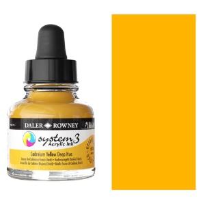 System 3 Ink 29.5ml Cadmium Yellow Deep Hue