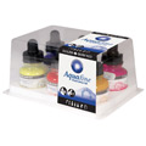 Aquafine Watercolor Ink Set of 6 Colors
