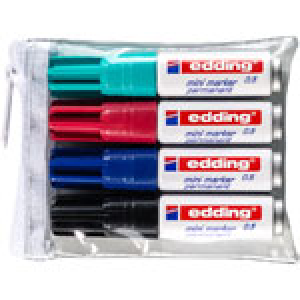 Edding 4 Set Assorted Mini Marker