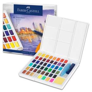 Faber-Castell Watercolor Pan 48 Color Set