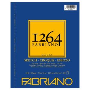 "Fabriano 1264 Spiral-Bound Sketch Pad 9"" x 12"""