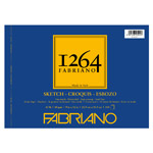 "Fabriano 1264 Spiral-Bound Sketch Pad 12"" x 9"""