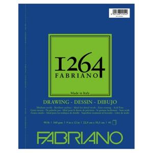 "Fabriano 1264 Drawing (90 lb) Pad 9"" x 12"""