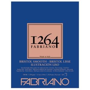 "Fabriano 1264 Bristol Smooth Pad 11"" x 14"""