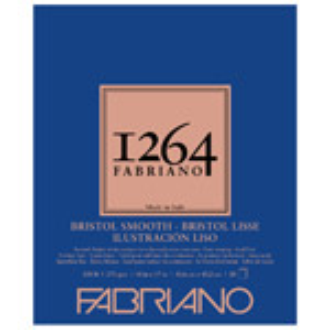 "Fabriano 1264 Bristol Smooth Pad 14"" x 17"""