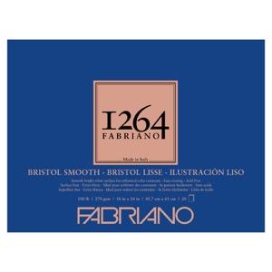 "Fabriano 1264 Bristol Smooth Pad 18"" x 24"""