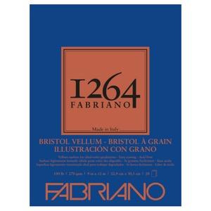 "Fabriano 1264 Bristol Vellum Pad 9"" x 12"""