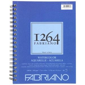 "Fabriano 1264 Spiral-Bound Watercolor Pad 7"" x 10"""