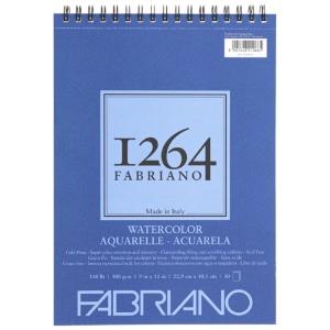 "Fabriano 1264 Spiral-Bound Watercolor Pad 9"" x 12"""