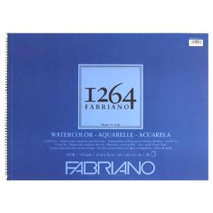 "Fabriano 1264 Spiral-Bound Watercolor Pad 18"" x 24"""