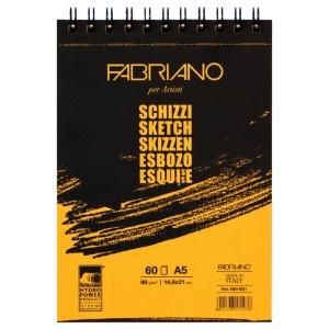 Fabriano Spiral Sketch Schizzi Pad 5.5x8.25