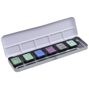 Finetec Pearlescent Pans Cool Palette 6-Color Set