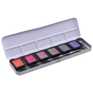 Finetec Pearlescent Pans Warm Palette 6-Color Set