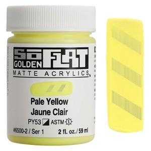 Golden SoFlat Matte Acrylic 2oz Pale Yellow