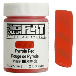 GOLDEN SOFLAT 2oz PYRROLE RED