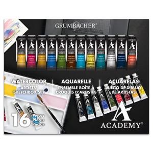 Grumbacher Academy Watercolor Artists Sketchbox Paint Set (12 x 0.25 oz