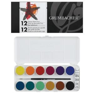 Grumbacher Opaque Watercolor 12-Pan Set