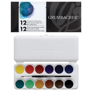 Grumbacher Transparent Watercolor 12-Pan Set